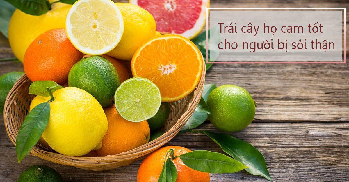 Người bị sỏi thận nên ăn nhiều trái cây họ cam
